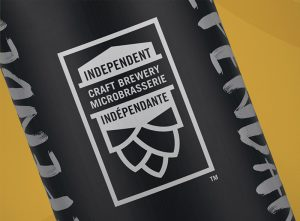 The Independent Craft Seal of Authenticity™ on a bottle of craft beer